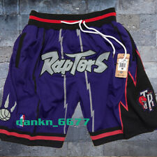 1998-99 Toronto Raptors Purple Shorts Pocket Sewn