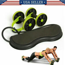 Ab Wheel Abdominal Exerciser Waist Slimming Trainer Roller Core Double Fitness A