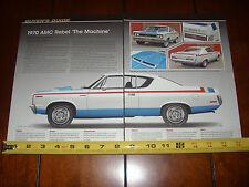 1970 AMC REBEL THE MACHINE - ORIGINAL 2014 ARTICLE