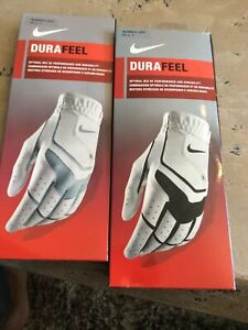 Two Nike DuraFeel Golf Glove Womens Left - Large 22 cm White - NEW!!