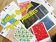 Iron on Mending Patches Fabric Patches Repair Iron-on Fabric Self-adhesive Fix