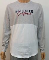 Hollister Mens Graphic T-Shirt Tee Heather Grey / White Medium M RRP £27