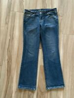 Mossimo Womens Boot Cut Jeans Blue Low Rise Bootcut Medium Wash Stretch 10/30 R