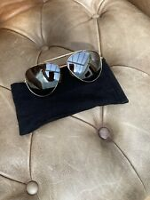 French Connection FCUK Gold & Brown Tortoise Shell Pilot Sunglasses Shades