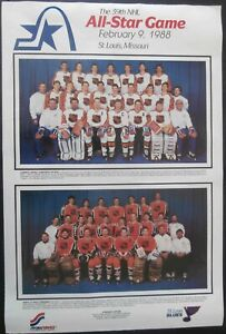 1988 NHL 39th All-Star Game 27x40 Arena Display Poster(Thick Stock), Gretzky...