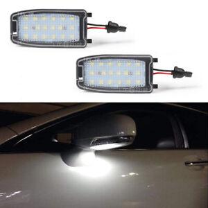 For Land Rover Range Rover LR2 LR3 LR4 White LED Under Side Mirror Puddle Lights