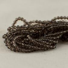 """Grade A Natural Smoky Quartz Semi-Precious Gemstone Round Beads - 2mm - 15.5"""""""