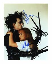 EDWARD SCISSORHANDS - JOHNNY DEPP & WINONA RYDER SIGNED A4 PP PHOTO POSTER 1