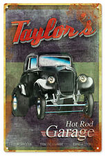 Taylor'S Hot Rod Garage Vintage Style Sign Classic/Hot Rod Car Signs