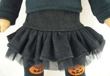 """Black Denim Ruffle Tulle Skirt for 18"""" American Girl Doll Clothes Sew Beautiful"""