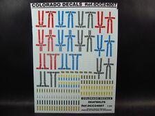 DECALS 1/24 HARNAIS DE SECURITE  - COLORADO  24007