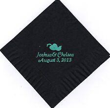 HEART LEAF LOGO 50 Personalized printed cocktail beverage napkins