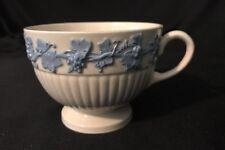 Rare Wedgwood of Etruria of Barlaston Edme Footed Teacup Lavendar/blue on Cream