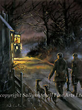 Lurcher Pub Scene Christmas Cards Pack of 10 by Mick Cawston C455x