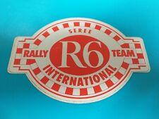 Autocollant Vintage R6 Seree RALLY STICKER RACING TEAM International