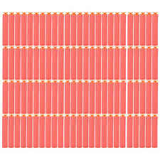20X 7.2 cm Refill Bullet Darts for Nerf N-strike Elite Serie with Sucker Red GZ