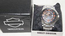 Bulova Harley Davidson Watch Black and Orange Face