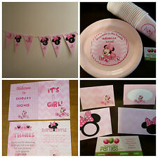 Minnie Mouse baby shower supplies
