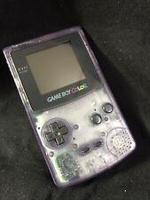 Nintendo gameboy color . atomic purple, transparent. 1998 . made in Japan