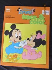 1986 Vintage Original Kids Disney Babies To Trace & Color GOLDEN UNUSED