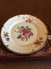 Diplomat Sanssouci Rosenthal Ivory Gold Floral Germany Salad Dessert Plate