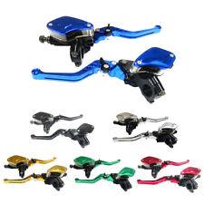 """Universal 7/8""""Adjustable Motorcycle Master Cylinder Reservoir Brake Clutch Lever"""