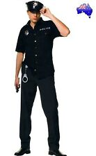 Mens Police Officer Cop Policeman Uniform Costume Fancy Dress Party