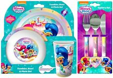 Shimmer and Shine 6 Piece Tableware Set - Dinner Set & Cutlery *NEW