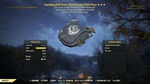Fallout 76 PC ⭐⭐⭐ Unyielding AP Sentinel Heavy Combat  Full SET