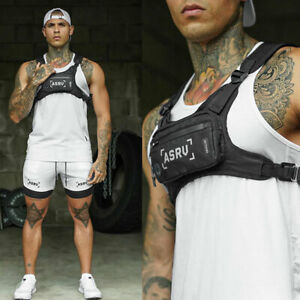Brusttasche Herren/Dame Tactical Vest Chest Rig Bag Hip Hop Weste Wasserdichtes↗