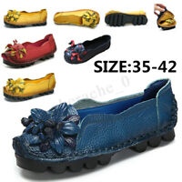 US SOCOFY Women's Comfort Shoes Casual Leather Soft Slip on Flats Summer Loafers