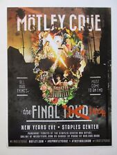 MOTLEY CRUE The final show ever concert poster / new years eve 2016 LA