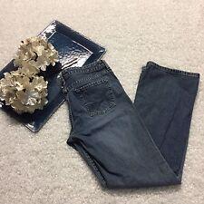 HALOGEN Jeans Denim Medium Wash Straight Leg Low Rise Women's Size 6L Nordstrom