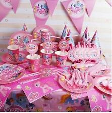 116pcs my little pony paper cup plate fork spoon kids birthday party decoration