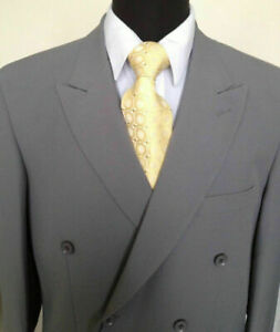 Men's 2 Piece Double Breasted Solid Color Suit   Style 901P