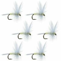 Pale Morning Dun PMD Classic Trout Dry Fly Fishing Flies - 6 Flies - Size 16