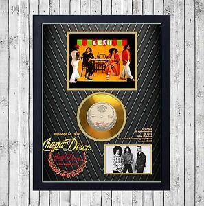 LEÑO CUADRO CON GOLD O PLATINUM CD EDICION LIMITADA. FRAMED. ROSENDO