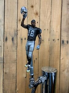 OAKLAND RAIDERS Tap Handle NFL Football Randy Moss Beer Keg Black Jersey