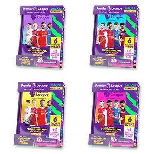 Panini Adrenalyn XL Premier League 2021 2022 Pocket Tin Purple Pink Blue Yellow