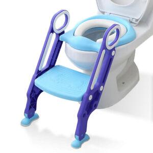 Toilettentrainer Toilettenaufsatz WC Sitz Toilettensitz mit Treppe für Kinder DE