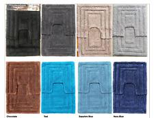 2 Piece Soft & Absorbant Luxurious 100% Cotton  Floor Bath Mat Set
