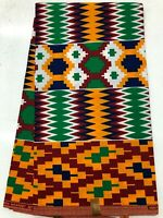 African KENTE Prints /African Print Fabric/African Clothing/ BLUE,RED,YELLOW