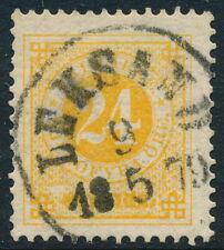 Sweden Scott 34/Facit 34c, 24ö orange Ringtyp p.13, F-Vf U Leksand cancel, Pr