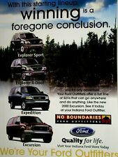 """2000 Ford Outfitters Indiana Explorer Expedition Excursion Original Ad 8.5 x 11"""""""