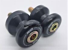 Aprilia RSV Mille 1998-2003 R&G racing black cotton reels paddock stand bobbins