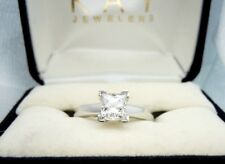 ($5,000+) LEO (VS1/H) 3/4CT Princess Diamond Solitaire Engagement Ring CERTIFIED