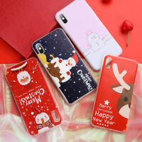 Christmas Santa Snowman Protective Phone Case Cover For Huawei P20 P30 Lite Pro