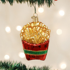 OLD WORLD CHRISTMAS FRENCH FRIES GLASS CHRISTMAS ORNAMENT 32099