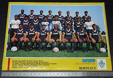 CLIPPING POSTER FOOTBALL 1987-1988 GIRONDINS BORDEAUX PARC LESCURE