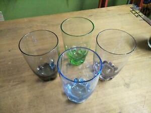 Vintage Harlequin Beverage Glass Set of 4